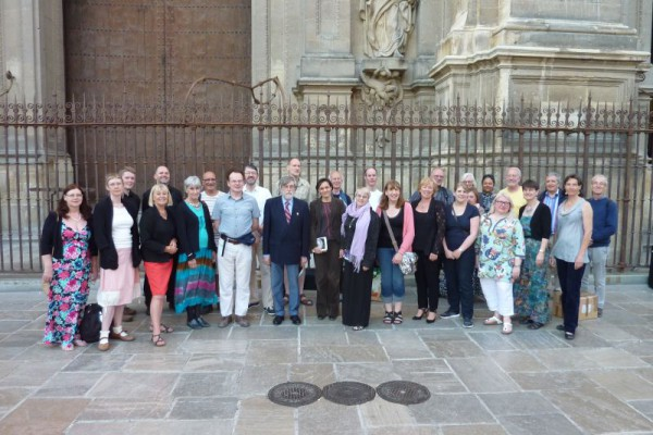 Outside the cathedral after our concert