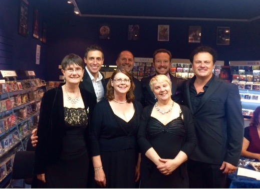 After the show at The Stables, Wavendon with Tenors Unlimited (and a limited Tenor!)